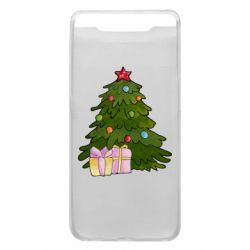 Чехол для Samsung A80 Christmas tree and gifts art