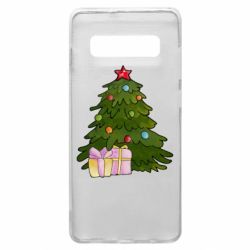 Чехол для Samsung S10+ Christmas tree and gifts art