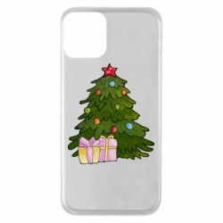 Чехол для iPhone 11 Christmas tree and gifts art
