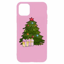 Чехол для iPhone 11 Pro Christmas tree and gifts art