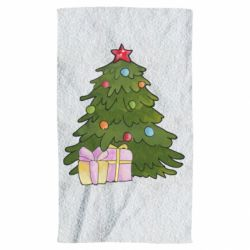 Полотенце Christmas tree and gifts art