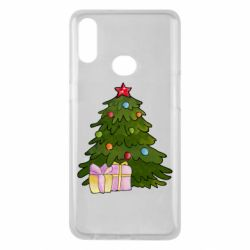 Чехол для Samsung A10s Christmas tree and gifts art