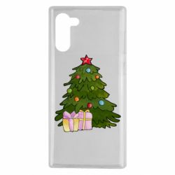 Чехол для Samsung Note 10 Christmas tree and gifts art