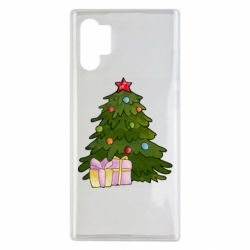 Чехол для Samsung Note 10 Plus Christmas tree and gifts art