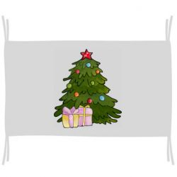 Флаг Christmas tree and gifts art