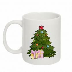 Кружка 320ml Christmas tree and gifts art