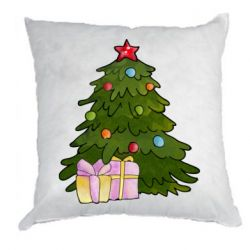 Подушка Christmas tree and gifts art