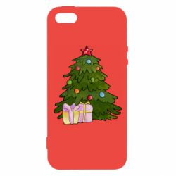 Чехол для iPhone5/5S/SE Christmas tree and gifts art