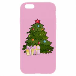 Чехол для iPhone 6/6S Christmas tree and gifts art