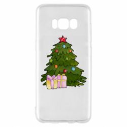 Чехол для Samsung S8 Christmas tree and gifts art