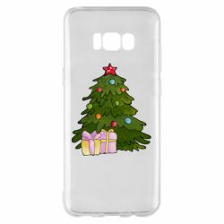 Чехол для Samsung S8+ Christmas tree and gifts art