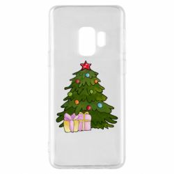 Чехол для Samsung S9 Christmas tree and gifts art