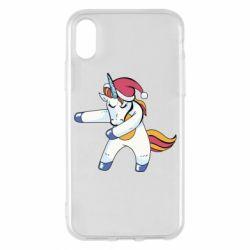 Чохол для iPhone X/Xs Christmas Unicorn