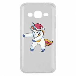 Чохол для Samsung J2 2015 Christmas Unicorn