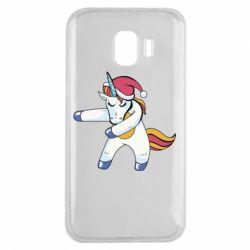 Чохол для Samsung J2 2018 Christmas Unicorn