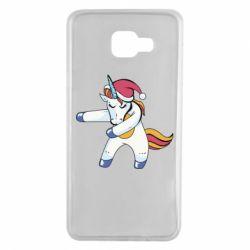 Чохол для Samsung A7 2016 Christmas Unicorn