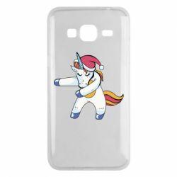 Чохол для Samsung J3 2016 Christmas Unicorn