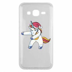 Чохол для Samsung J5 2015 Christmas Unicorn