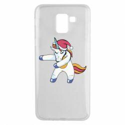 Чохол для Samsung J6 Christmas Unicorn