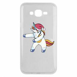 Чохол для Samsung J7 2015 Christmas Unicorn