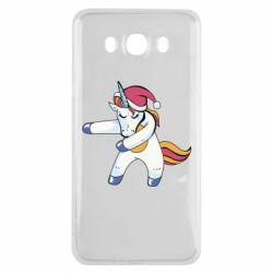 Чохол для Samsung J7 2016 Christmas Unicorn