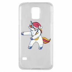 Чохол для Samsung S5 Christmas Unicorn