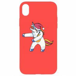 Чохол для iPhone XR Christmas Unicorn