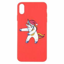 Чохол для iPhone Xs Max Christmas Unicorn