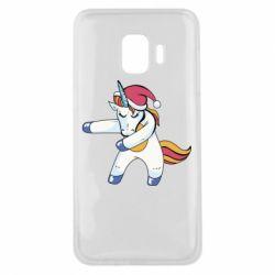 Чохол для Samsung J2 Core Christmas Unicorn