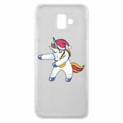 Чохол для Samsung J6 Plus 2018 Christmas Unicorn