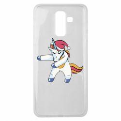 Чохол для Samsung J8 2018 Christmas Unicorn