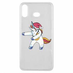 Чохол для Samsung A6s Christmas Unicorn