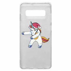 Чохол для Samsung S10+ Christmas Unicorn