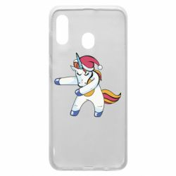 Чохол для Samsung A20 Christmas Unicorn