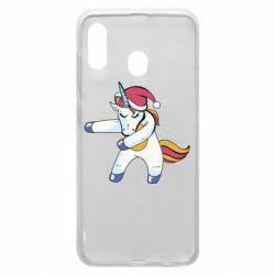 Чохол для Samsung A30 Christmas Unicorn