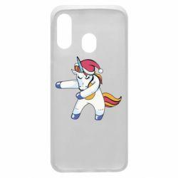 Чохол для Samsung A40 Christmas Unicorn