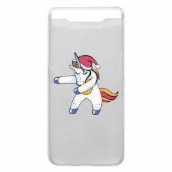 Чохол для Samsung A80 Christmas Unicorn