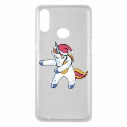 Чохол для Samsung A10s Christmas Unicorn