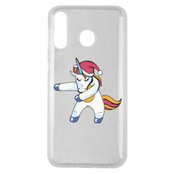 Чохол для Samsung M30 Christmas Unicorn