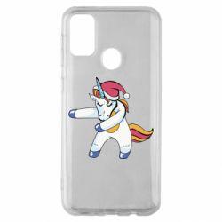 Чохол для Samsung M30s Christmas Unicorn