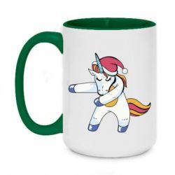 Кружка двоколірна 420ml Christmas Unicorn