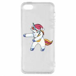 Чохол для iphone 5/5S/SE Christmas Unicorn