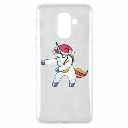 Чохол для Samsung A6+ 2018 Christmas Unicorn