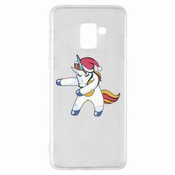 Чохол для Samsung A8+ 2018 Christmas Unicorn