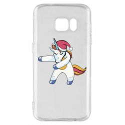 Чохол для Samsung S7 Christmas Unicorn