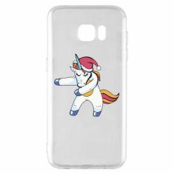 Чохол для Samsung S7 EDGE Christmas Unicorn