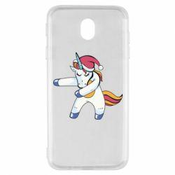 Чохол для Samsung J7 2017 Christmas Unicorn