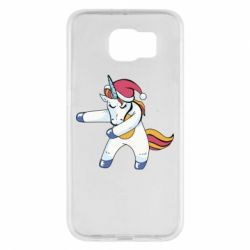 Чохол для Samsung S6 Christmas Unicorn
