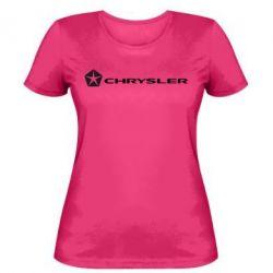 Женская футболка Chrysler Logo