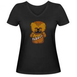 Женская футболка с V-образным вырезом Чубакка - FatLine